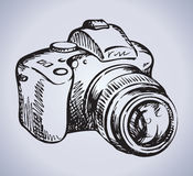 Camera. Vector drawing Stock Photo
