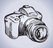 Camera. Vector drawing Stock Photo