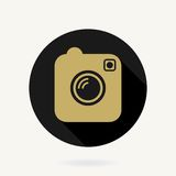 Camera Vector Icon With Flat Design. Black and Royalty Free Stock Photography