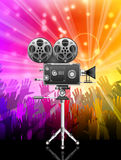 Camera. Vector illustration of movie camera Royalty Free Stock Images