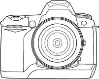 Camera Vector Outline. This is an outline of a digital camera in vector format, you can use it for any photography related design and customize its colors as you Stock Photography