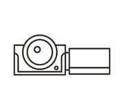 Camera video film isolated icon Stock Image
