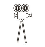 Camera video film isolated icon Stock Photos