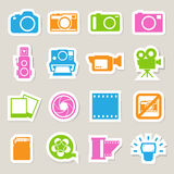 Camera and Video sticker icons set Royalty Free Stock Photos