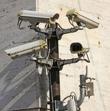 Camera for video surveillance and control with wireless connection. To the control unit of the police royalty free stock photo
