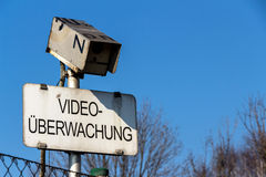 Camera and video surveillance sign Stock Images