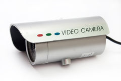 Camera for video surveillance on the white background Stock Image