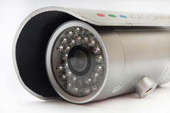 Camera for video surveillance on the white background Royalty Free Stock Photos