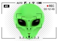 Camera viewfinder alien Royalty Free Stock Image