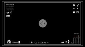 Camera viewfinder stock footage