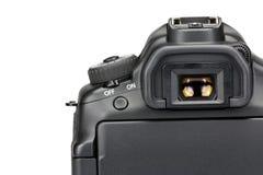 Camera viewfinder. Viewfinder of a dslr camera stock images