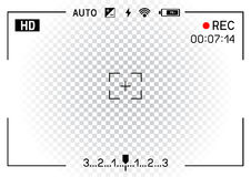 Camera viewfinder transparent background Stock Image