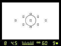 Camera viewfinder Stock Image
