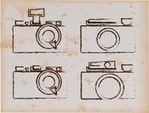 Camera vintage. Camera design over vintage background vector illustration Royalty Free Stock Photo