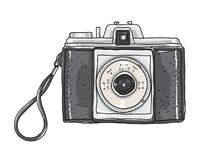 Camera Vintage Vector Free : Yellow camera lovely vintage hand drawn vector art illustration