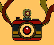 Camera Vintage Style Vector. On background Royalty Free Stock Photography