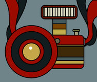 Camera Vintage Style Vector. On background Stock Photography