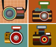 Camera Vintage Style Vector. On background Stock Image