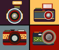 Camera Vintage Style Vector. On background Stock Images