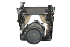 Camera in waterdicht geval Stock Afbeeldingen