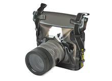Camera in waterdicht geval Royalty-vrije Stock Afbeelding