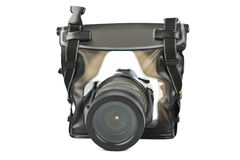 Camera in waterproof case Stock Images