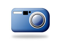 Camera web icon. Illustration of camera web button Royalty Free Stock Photos