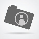 Camera web icon with human symbol Stock Image