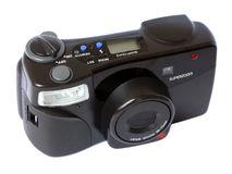 Camera on white Royalty Free Stock Photography