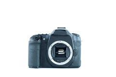 Camera on white . Stock Photos