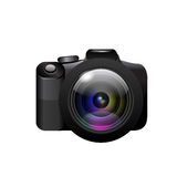 Camera on white background. Vector Stock Images