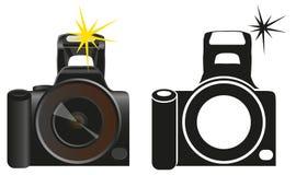 Camera on white Stock Photos