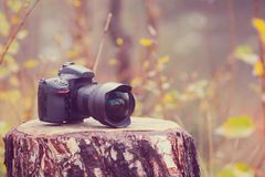 Camera with wideangle lense Stock Photos