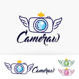 Camera Wings vector logo design Stock Photos