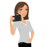 Camera woman Royalty Free Stock Photos