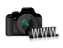 Camera www online internet concept Stock Image