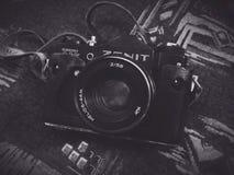 Camera Zenit. Old vintage camera Stock Photos
