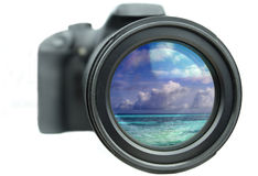 Camera zoom Stock Image