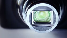 Camera zoom. Definition close up camera zoom and focus stock video