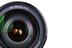 Camera zoom Lens. In isolated background Royalty Free Stock Photos