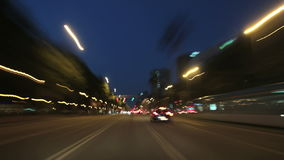 Cameracar Barcelona 01. A time lapse driving to the city center in Barcelona stock video