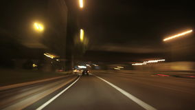Cameracar Barcelona 02. A time lapse driving to the city center in Barcelona stock footage