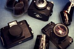 Cameraes de vintage Image stock