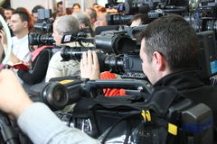 Cameralieden Stock Foto's
