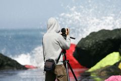 Cameraman imágenes de archivo libres de regalías