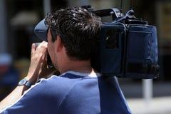 Cameraman.  royalty free stock photo