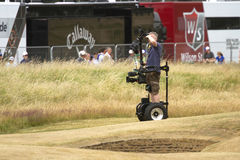 Cameraman at 2013 British Open Royalty Free Stock Images