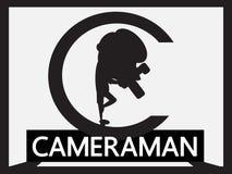 Cameraman cartoon Stock Image