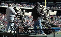Cameraman de la televisión fotografía de archivo libre de regalías