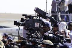 Cameraman de la TV Fotos de archivo